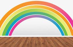 Rainbow Wall Decal by WallSkins