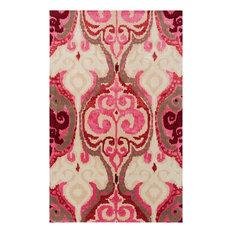 surya banshee rectangle hot pink area rug