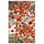 "Mohawk Home - Tossed Floral Multi Rug, 7'6""X10' - By taking a Contemporary design and updating it for the modern home, the Floral Festival Rug provides protection for your floors and looks stylish doing it. Brightly colored circles combine with a neutral background to create a design that will be the focal point of any space. Printed on the same machines that manufacture one of the world's leading brands of printed carpet, this rug is extremely durable and vibrant. This technology allows the use of multiple colors to create a rug that is wonderfully designed and applicable to any room in your home."