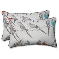 Pillow Perfect 596709 Indoor-Outdoor Retweet Mango Rectangular Throw Pillow&#44