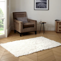 Super Area Rugs Pure Eco Friendly Wool Flokati Rug White 8
