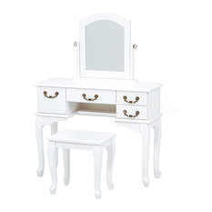 - 【Feminine Wood】フェミニンな白家具♪  ドレッサーセット - ドレッサー