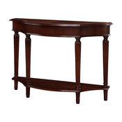 Powell Masterpiece Console Table with 4-Reeded Legs and Lower Shelf