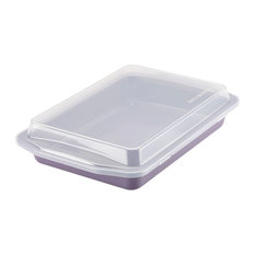 Paula Deen Lavender Steel 9 x 13 Inch Cake Pan with Lid