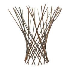 Flared Twig Trellis, Med, Natural