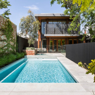 Photo of a contemporary pool in Melbourne.