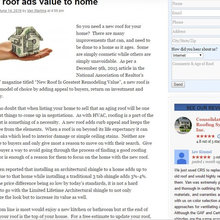 Roofing and Home Improvement Blogs
