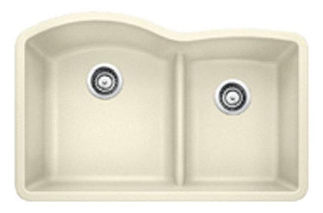 Blanco 441590 32x208 granite double undermount kitchen sink 32x20 2732 diamond 175 double basin kitchen sink biscuit workwithnaturefo