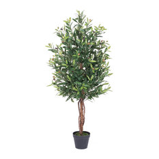 "50"" Olive Tree With Pot, Green"
