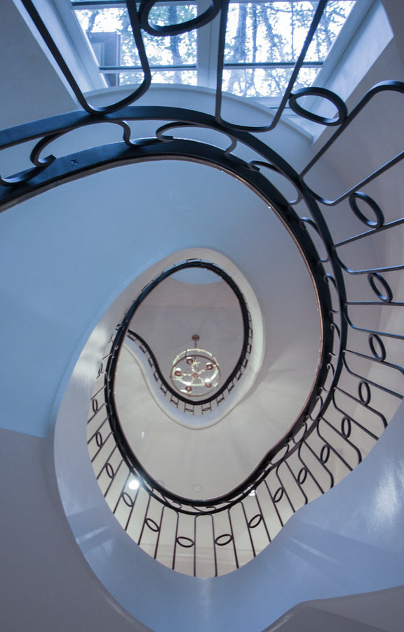 Sculptural/Elliptical Staircase near the foreign embassies in Washington DC, 200