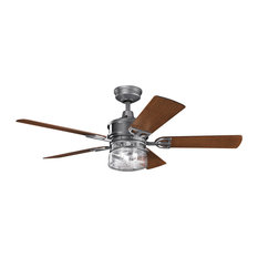 "Kichler 52"" Lyndon Patio Fan, Weathered Steel Powder Coat"