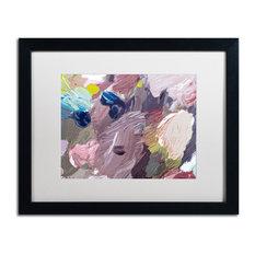 "David Lloyd Glover 'Cloud Patterns' Art, Black Frame, 16""x20"", White Matte"