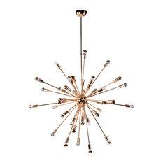 luxe furniture sputnik chandelier gold chandeliers - Starburst Chandelier