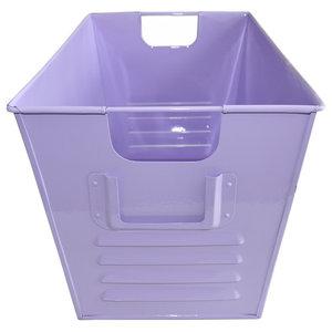 Large Oldschool Storage Bin, Soft Purple