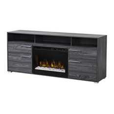 Sander Media Console Electric Fireplace With Acrylic Ember Bed