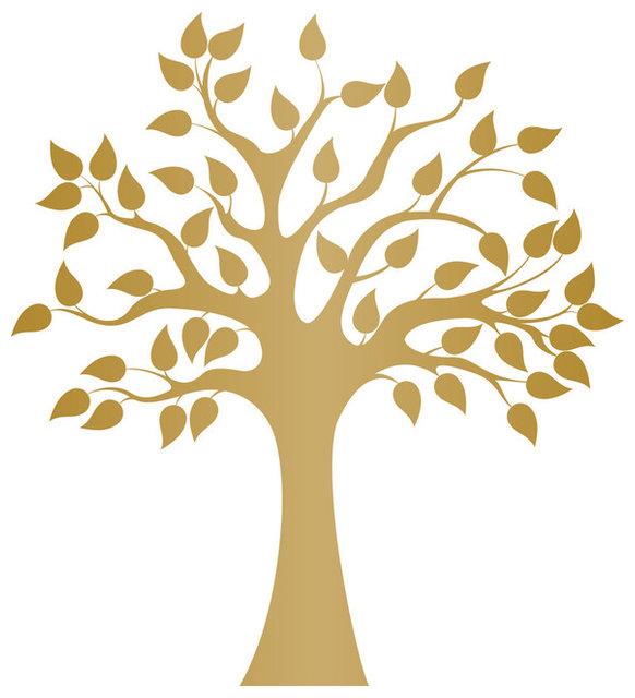 Modern Golden Tree Wall Decal - Contemporary - Wall Decals - by Dana ...