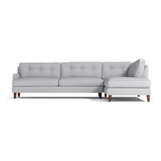 Apt2B - Virgil 2-Piece Sectional Sofa, Stone, Chaise on Right - Sectional Sofas