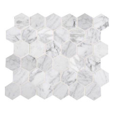 Daltile M701 2hexms1l 2 Carrara White Hexagon Polished Mosaic Tile Sold