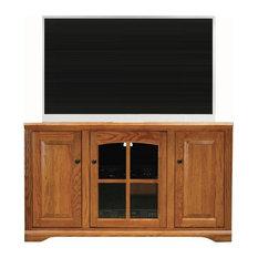 """Eagle Furniture Oak Ridge 55"""" Corner Entertainment Console, Medium Oak"""