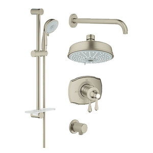 Grohe 35 054 GrohFlex Thermostatic Shower System - Includes Valve Trim