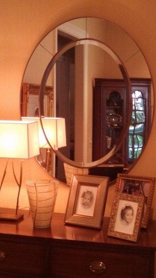 Pair of Oval Mirrors, Charlotte NC