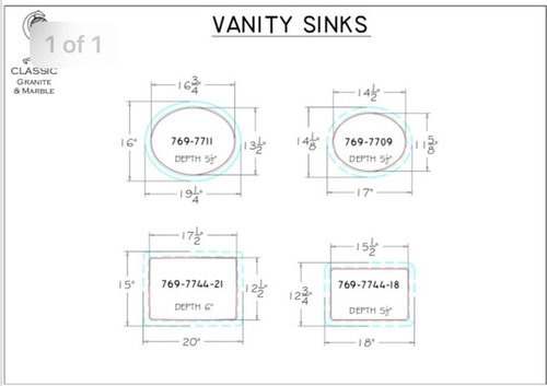 Poll Which Size Sinks For 60 Inch Vanity, Average Bathroom Sink Size