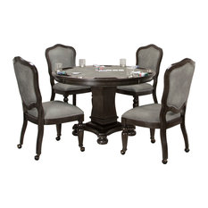 Sunset Trading 5 Piece Vegas Dining And Poker Table Set