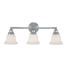 3-Light Vanity Bath Fixture, Chrome