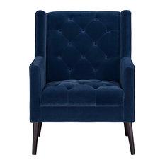 Miami Accent Chair, Dark Blue
