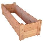 "GroGardens - GroGardens 1'x4'x11"" Redwood Raised Garden Bed - -1' x 4' x 11"" Redwood Raised Garden Bed"