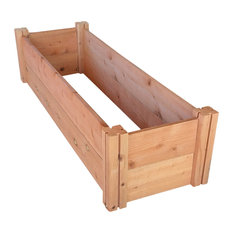 "GroGardens 1'x4'x11"" Redwood Raised Garden Bed"