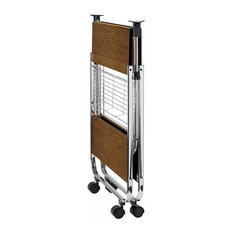 3-Tiers Serving Trolley Cart, Metal Frame and MDF Shelves, Modern Design