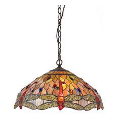 3-Light Dragonfly Ceiling Pendant Fixture