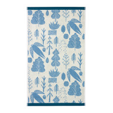 Bird and Tree Bath Towel, Blue