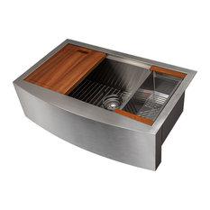 "ZLINE Moritz Farmhouse 33"" Single Bowl Sink in Stainless Steel"