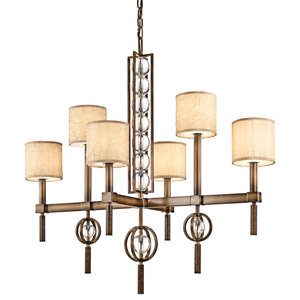 Cambridge Bronze 6lt Rectangular Chandelier - 6 x 60W E14