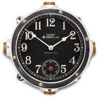 Navy Aluminum Master Clock