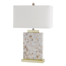 Safavieh   Tory Shell Table Lamp, Shell   Table Lamps