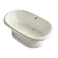 """Vintage 72""""x42"""" Freestanding Bath, Biscuit"""