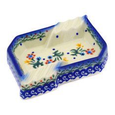"Polmedia Polish Pottery 5"" Stoneware Ashtray"
