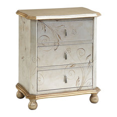 Celeste Dresser or Chest in Silver And Gold
