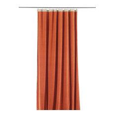 En Fil d'Indienne - Medici Velvet Curtain, Orange - Curtains