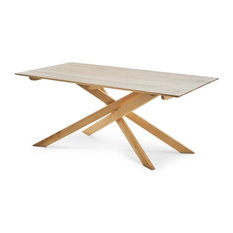 GDF Studio Gallow  Nautral Finished Wood Dining Table, Ash Wood