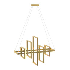 Gold Stainless Steel Geometric LED Light Fixture