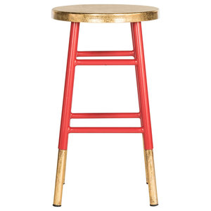 Safavieh Mari Counterstool, Red and Gold