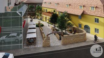 Visualisierung für die Umplanung des unteren Tores in Roth