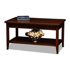 Leick Home   Leick Furniture Laurent Chocolate Cherry Condo / Apartment Coffee  Table   Coffee Tables