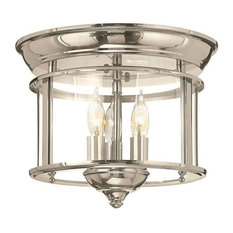 Hinkley Lighting 3473PN, Gentry Flush Mount Light, Polished Nickel