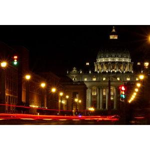 """Saint Peter's by Night"" Photo Print, Art Poster, 40x30 cm"