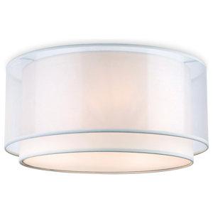Chicago Flush Ceiling Light, Cream